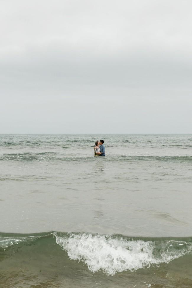 Tyninghame beach couple's shoot