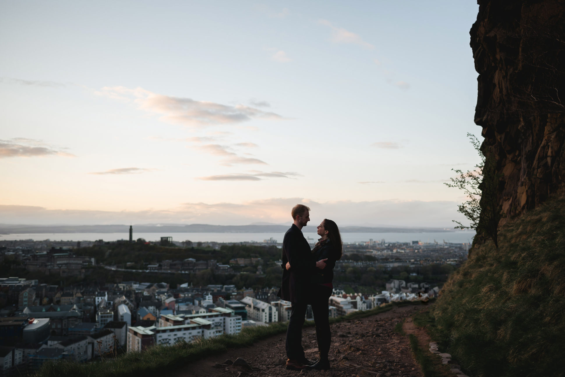 Arthur's Seat Sunset Engagement Shoot